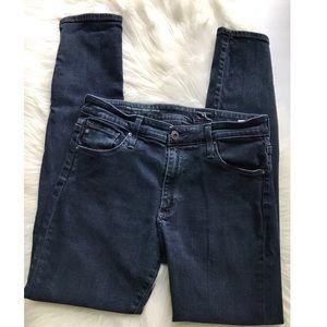 AG Jeans Farrah Skinny Ankle High Rise Split Hem